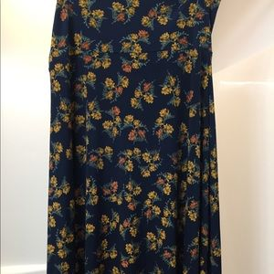LuLaroe blue maxi skirt